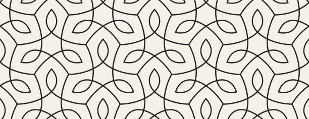 Seamless Organic Nature Plant Vector Pattern Seamless. Colors easily changed. floral and decorative background stock illustrations