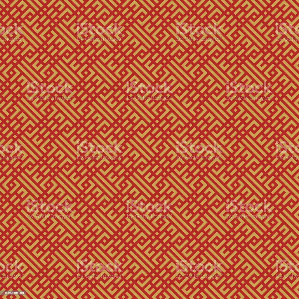 東洋中国のシームレスな幾何学的なパターンの背景 - アジア大陸のロイヤリティフリーベクトルアート