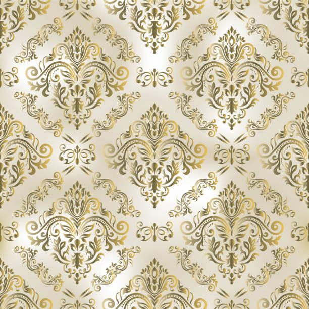 シームレスなオリエンタルパターン。ダマスクの壁紙。装飾が付いている抽象的なシームレスなパターン - ロココ調点のイラスト素材/クリップアート素材/マンガ素材/アイコン素材