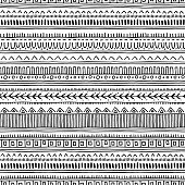 Seamless oriental pattern. Ethnic monochrome vector background.