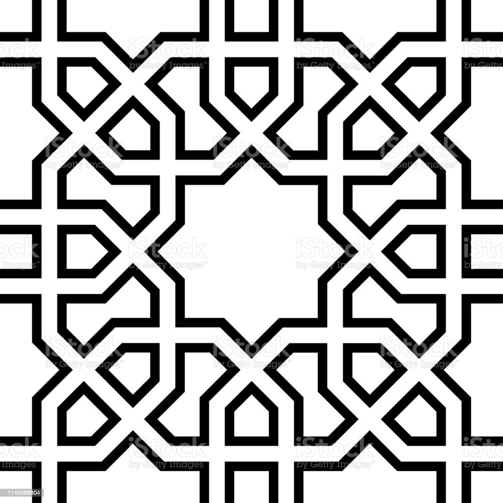 Seamless Oriental Pattern Simple Design Decorative Black And White Background With Repeat Elements Geometrical Structured Wallpaper Stock Illustration Download Image Now Istock