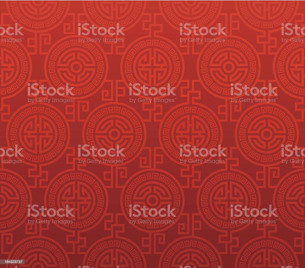 Sem costura padrão Oriental - ilustração de arte em vetor