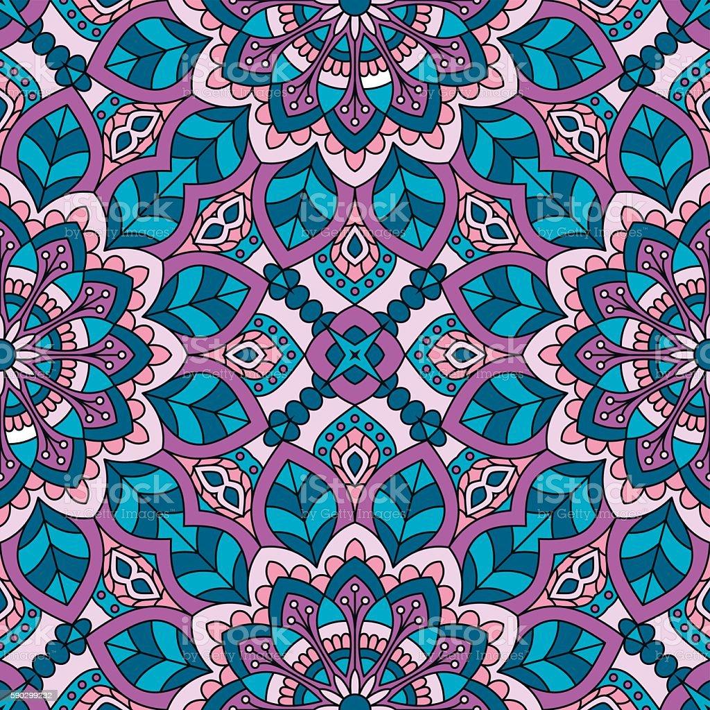Seamless oriental pattern. royaltyfri seamless oriental pattern-vektorgrafik och fler bilder på abstrakt