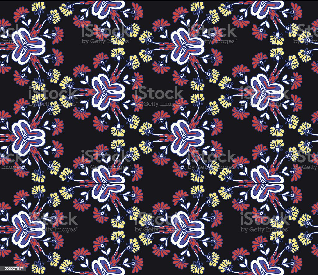 Seamless ornamental floral pattern background royalty-free seamless ornamental floral pattern background stock vector art & more images of abstract