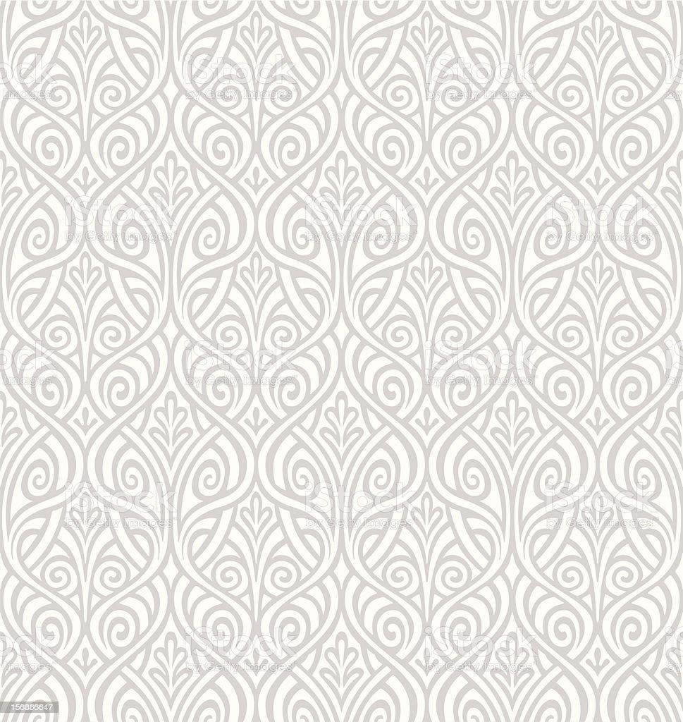 Seamless Ornamental Wallpaper vector art illustration
