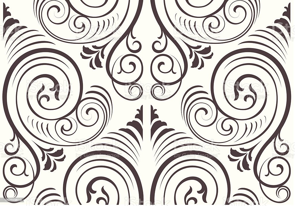 Seamless ornate wallpaper background royalty-free seamless ornate wallpaper background stock vector art & more images of antique