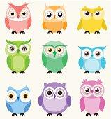 seamless owl birds background