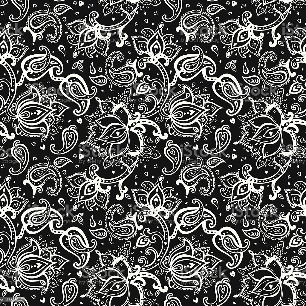 Seamless Paisley Background Stock Illustration - Download ...