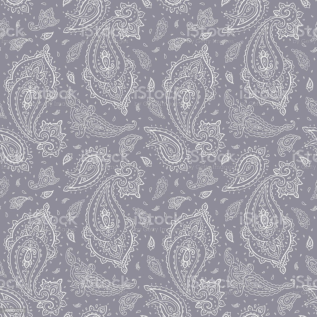 Seamless Paisley background. royalty-free seamless paisley background stock illustration - download image now