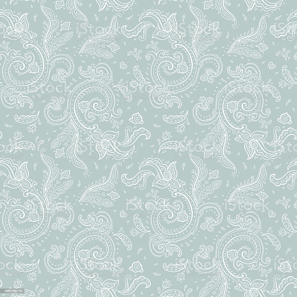 Seamless Paisley background. vector art illustration