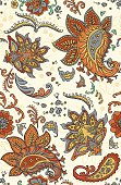 Seamless Paisley color pattern. Pattern swatch is also included in the swatches library. High-res jpeg included in a zip. The edges of the artwork are hidden by a clipping mask, so it's full version can be used by just removing the mask.