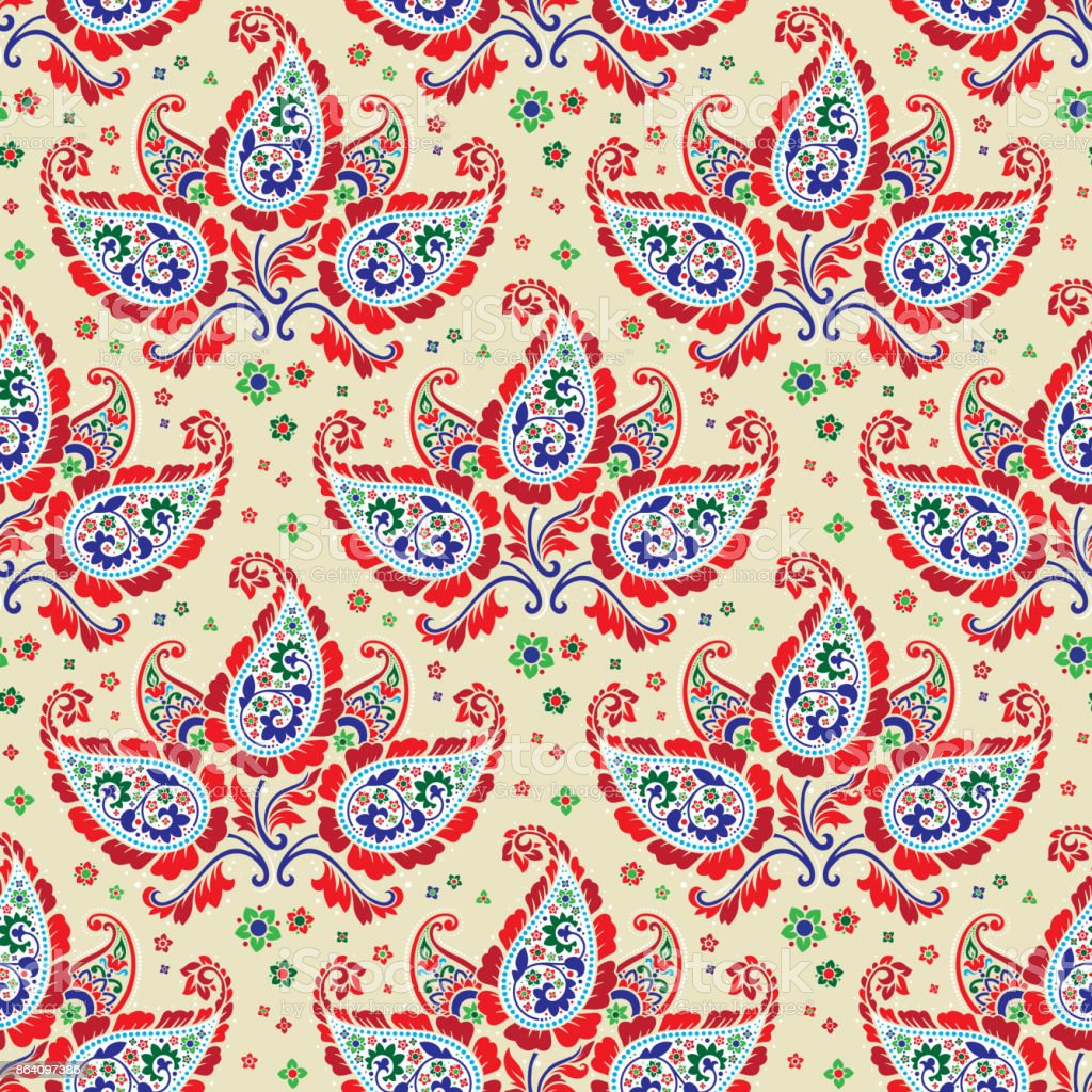 Seamless paisley pattern royalty-free seamless paisley pattern stock vector art & more images of arts culture and entertainment