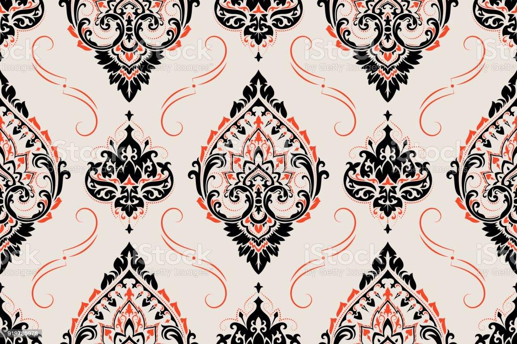 Seamless paisley pattern - Illustration .