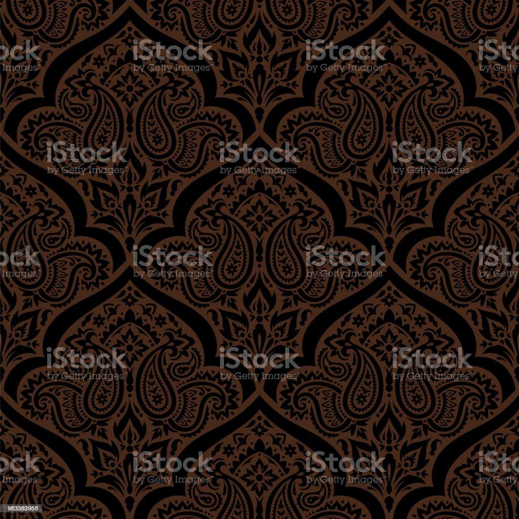 Seamless paisley pattern - Grafika wektorowa royalty-free (Adamaszek)