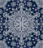 Seamless winter paisley