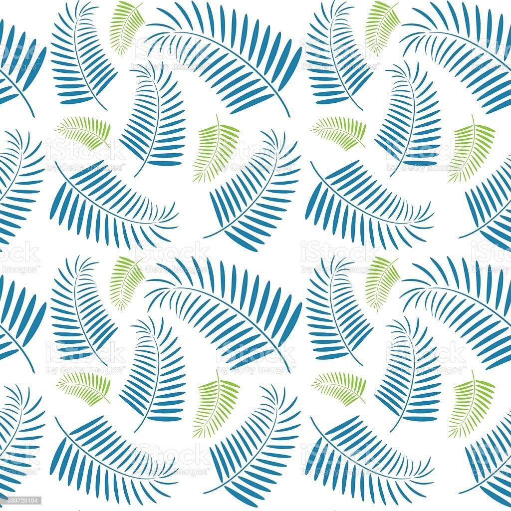 seamless palm tree leaves pattern stock vector art 533725104 istock