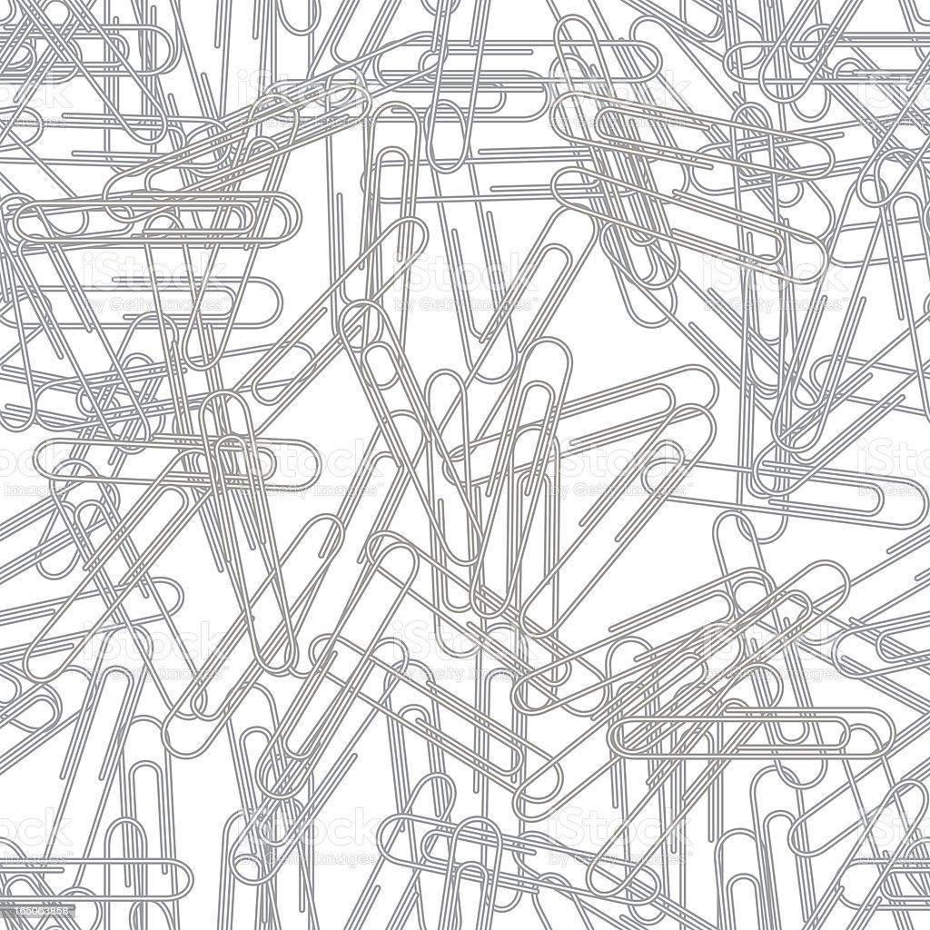 Seamless paper clips background, vector vector art illustration