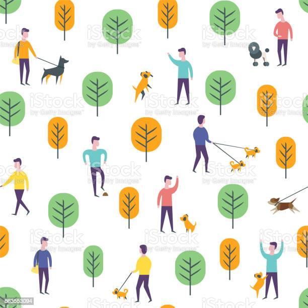 Seamless park pattern vector dog walking people vector id863553094?b=1&k=6&m=863553094&s=612x612&h=sktc3i6wnl vaarsdjv2wbaanksnhjqprwqyy7anx6o=