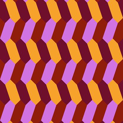 Seamless parquet pattern. Herringbone ornament. Ethnic motif. Hexagons wallpaper. Geometrical backdrop. Folk background. Mosaic digital paper. Geometric textile print. Tiles design. Vector image.