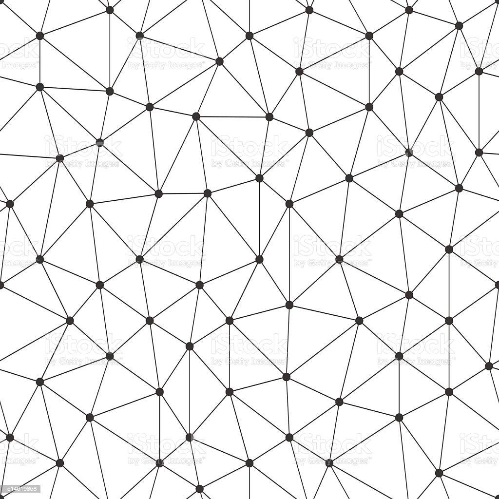 Ilustración de Matriz Lineal Patrón Continuo Abstracto Con Círculos ...