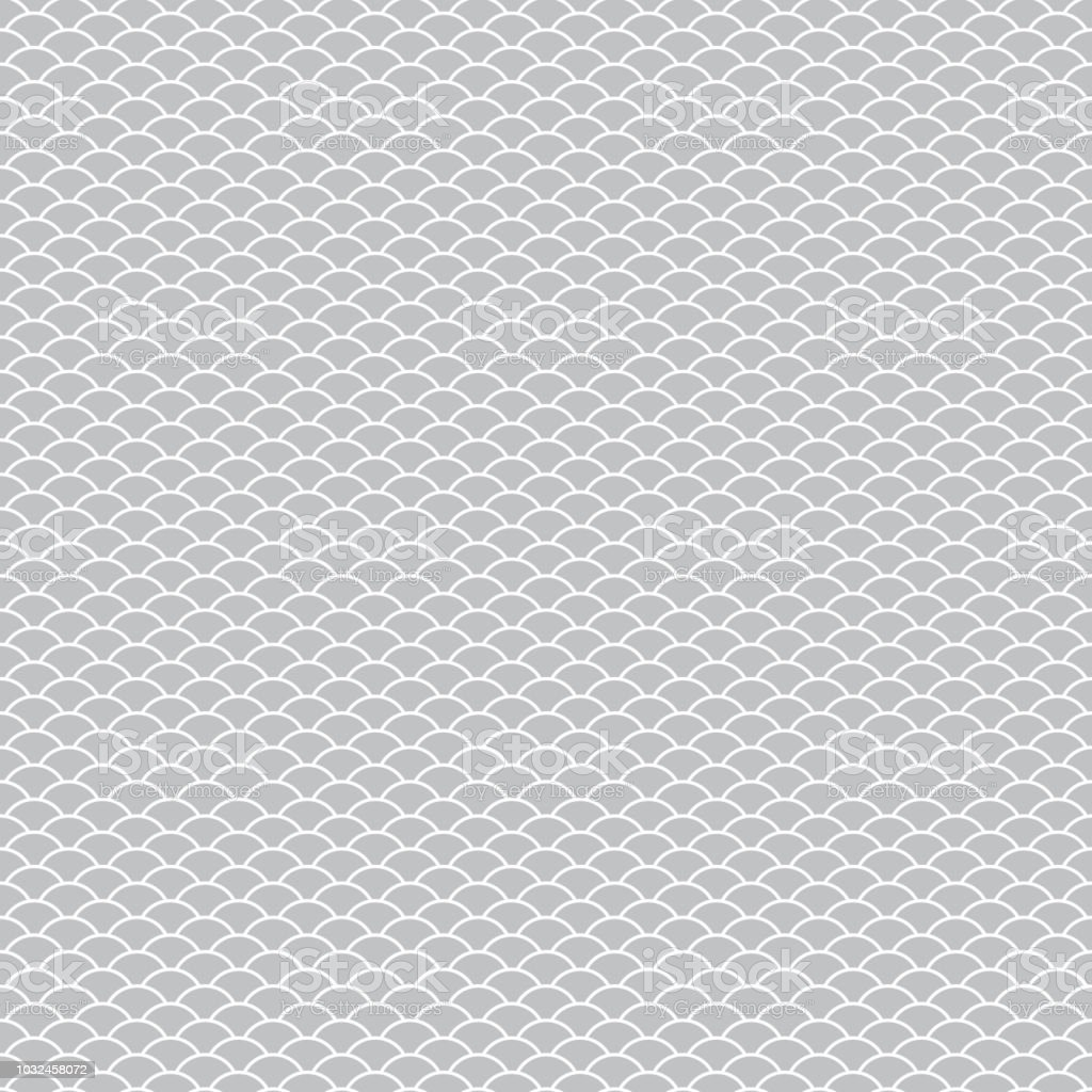 seamless pattern abstract scales simple background with circle pattern white gray. Can be used for fabrics, wallpapers, websites. Vector vector art illustration