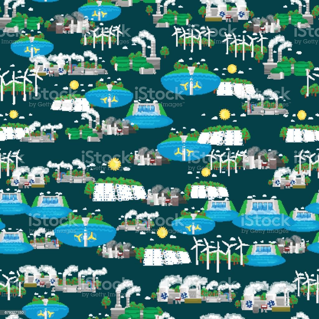 seamless pattern alternative energy green power, environment save, renewable turbine energy, wind and solar ecology electricity, ecological industry vector illustration royalty-free seamless pattern alternative energy green power environment save renewable turbine energy wind and solar ecology electricity ecological industry vector illustration stock vector art & more images of alternative energy