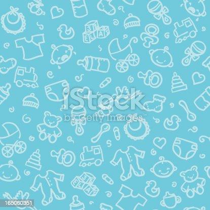 istock seamless pattern: baby boy 165060351