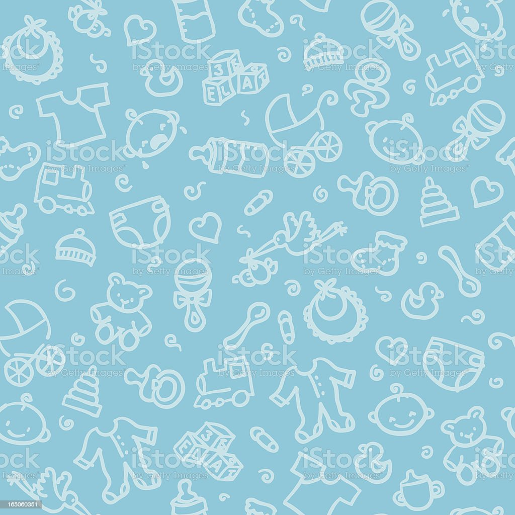 seamless pattern: baby boy vector art illustration