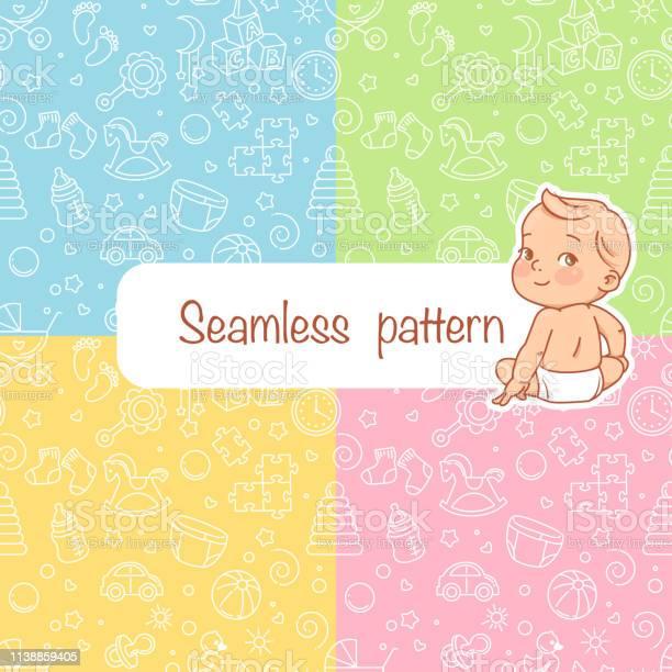 Seamless pattern baby objects vector id1138859405?b=1&k=6&m=1138859405&s=612x612&h=op1pdahwsag0qriltetsvsbnajjyst bjlcjlo0etge=