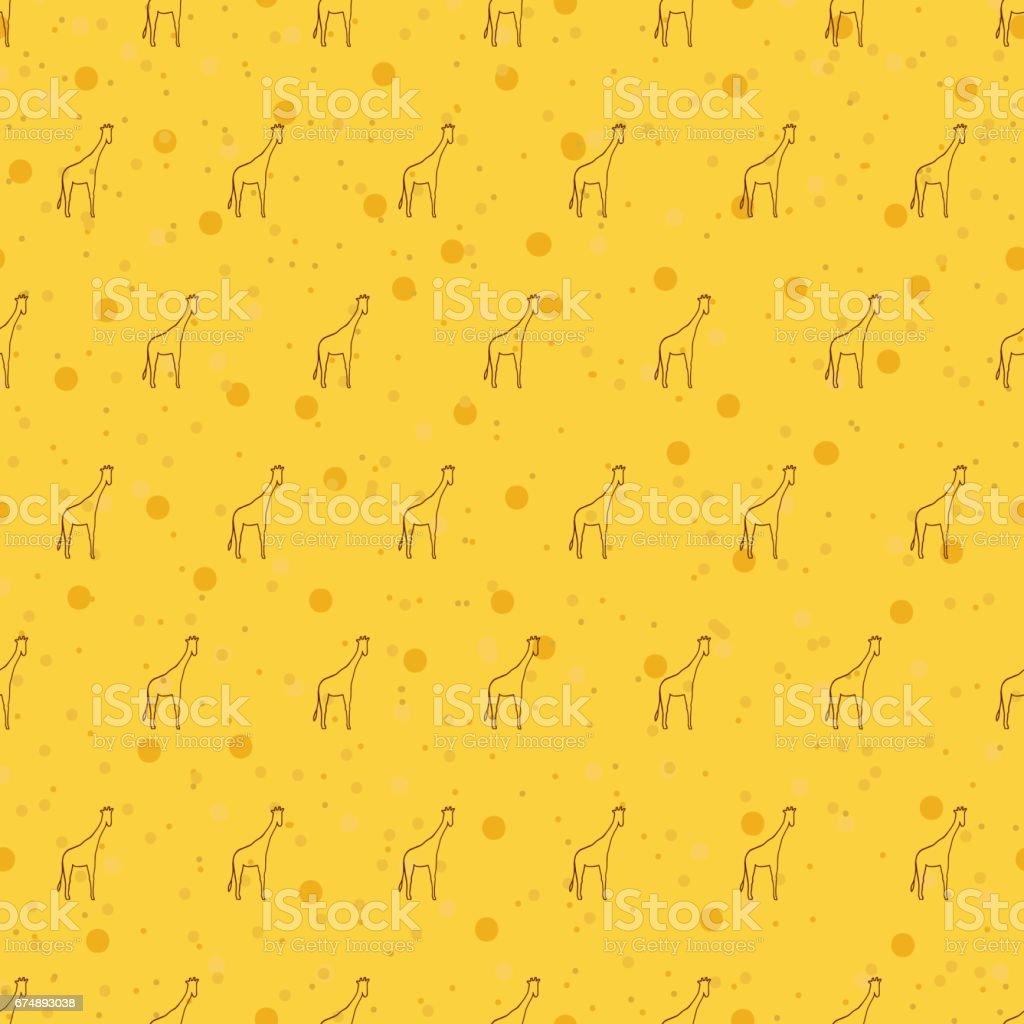 シームレスなパターン背景キリンアフリカの動物のベクトルの壁紙 いたずら書きのベクターアート素材や画像を多数ご用意 Istock