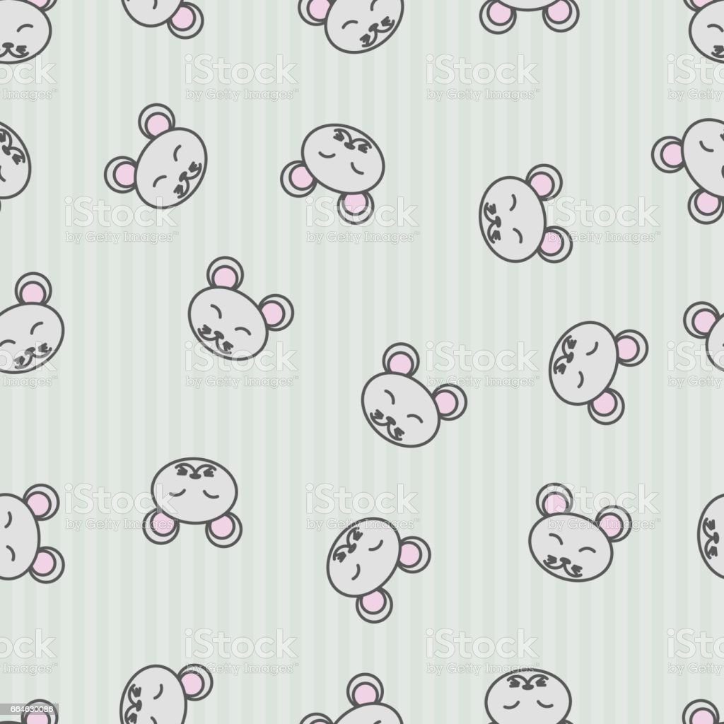 Seamless Pattern Background Mouse Vector Wallpaper For Kids Royalty Free