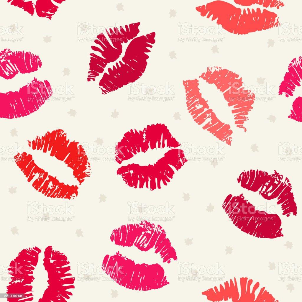 Seamless pattern background with lipsticks prints vector art illustration