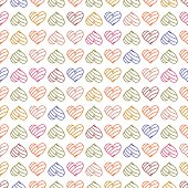 Seamless pattern background with pastel hearts.