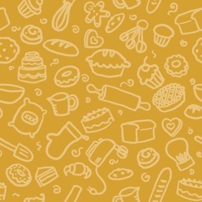 seamless pattern: baking