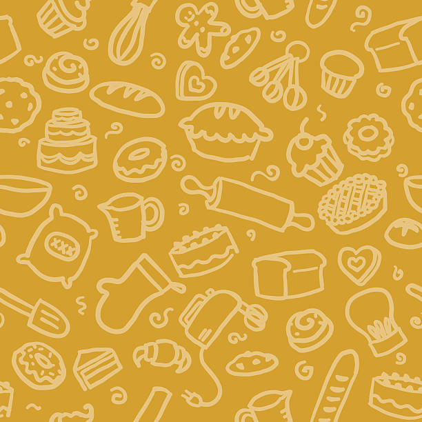 seamless pattern: baking - baking stock illustrations