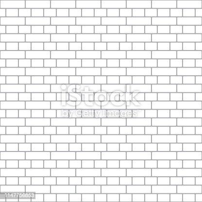 Simple seamless pattern. Brickwork texture background.