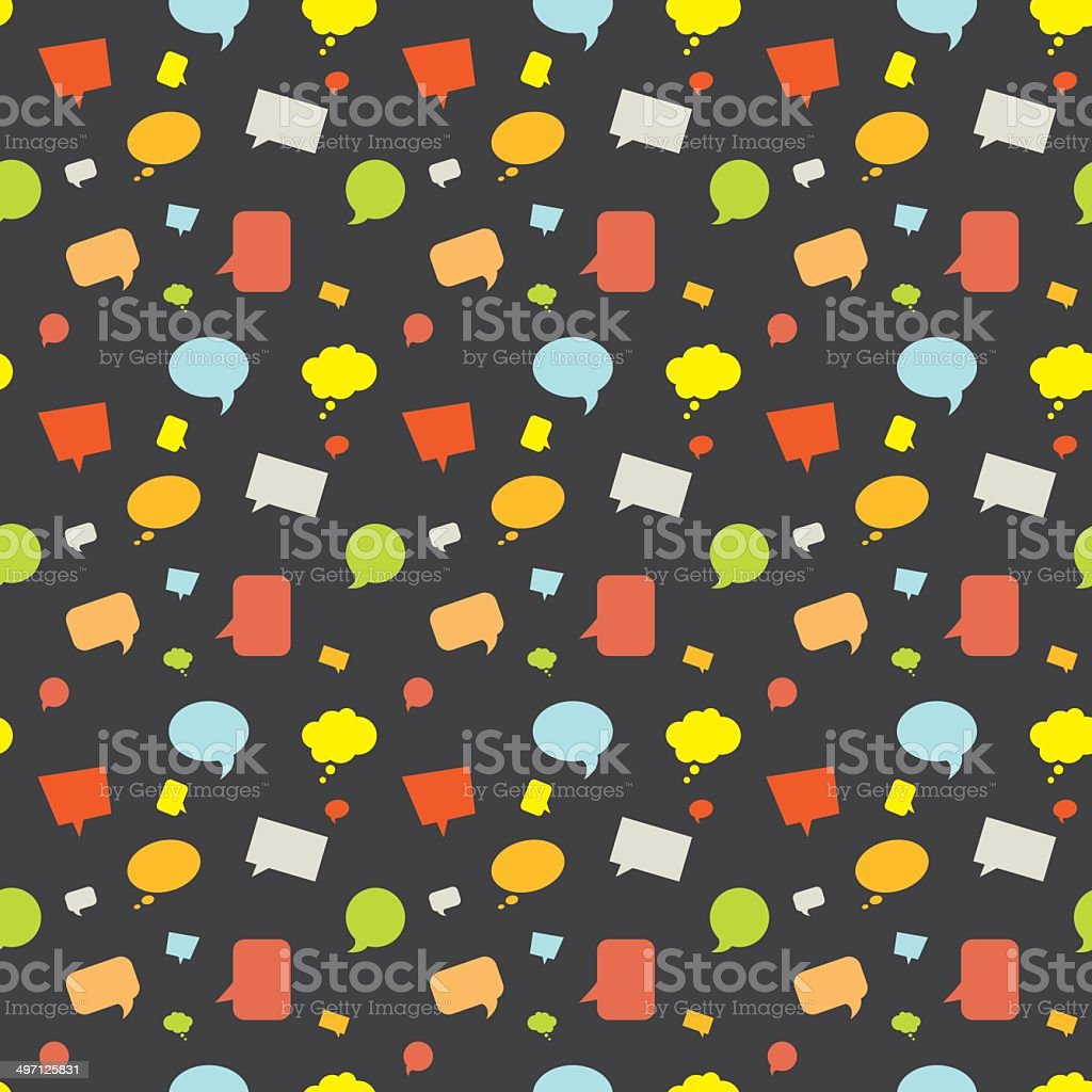 Seamless Pattern Cartoon Speech Bubbles royalty-free stock vector art
