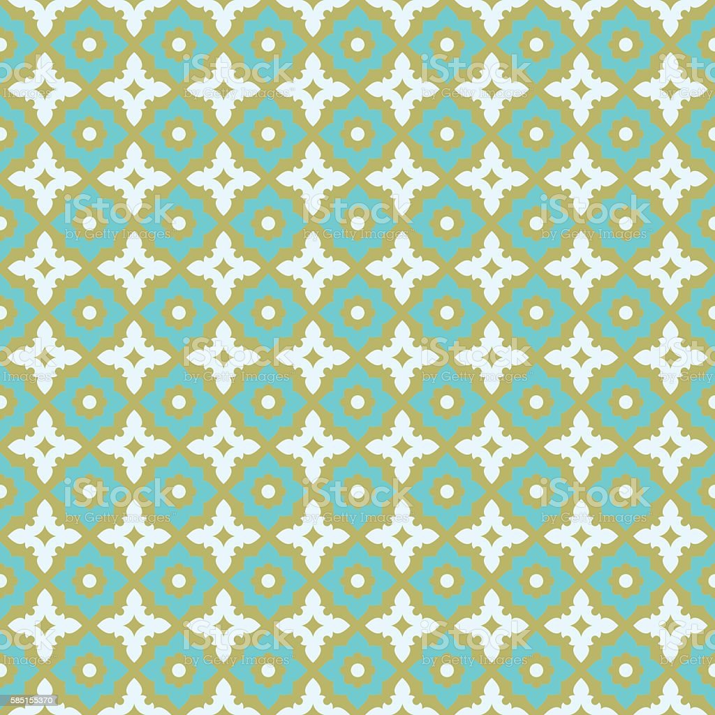 Seamless Pattern Ceramic Tile Design With Floral Ornate Stock Vector ...