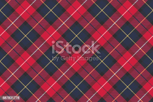 Seamless pattern check plaid fabric texture. Vector illustration.