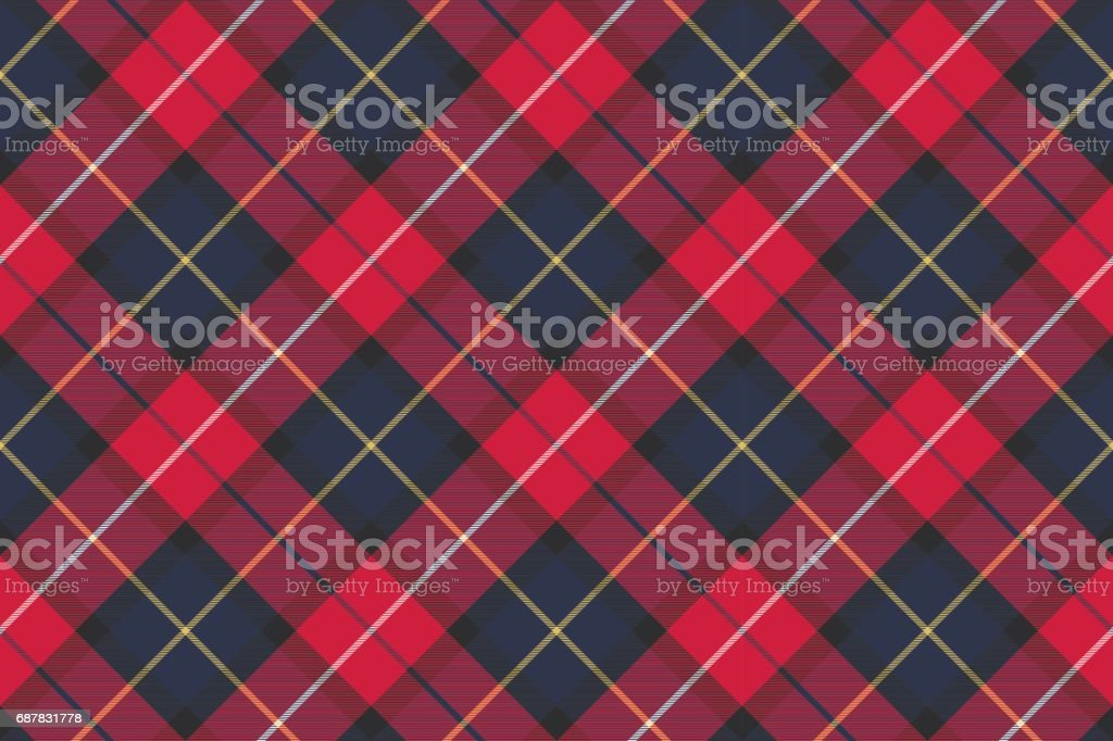 Seamless pattern check plaid fabric texture vector art illustration