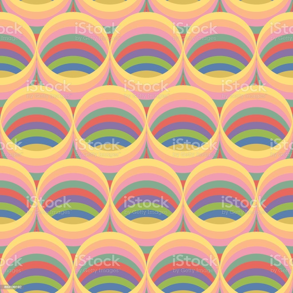 Seamless Pattern Circular Duct With Many Color Paste Up The ...