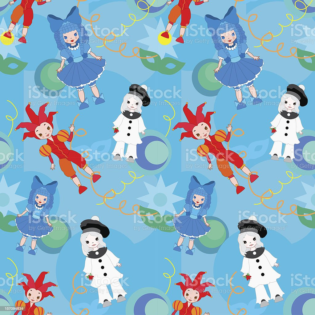 Seamless pattern clowns vector royalty-free seamless pattern clowns vector stock vector art & more images of actor