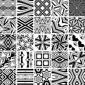 Vector illustration 25 geometric patterns.