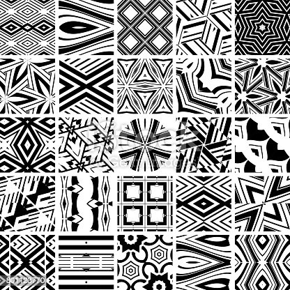 Vector illustration 25 geometric patterns.