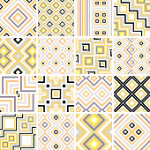 Vector illustration 16 checked geometric patterns.