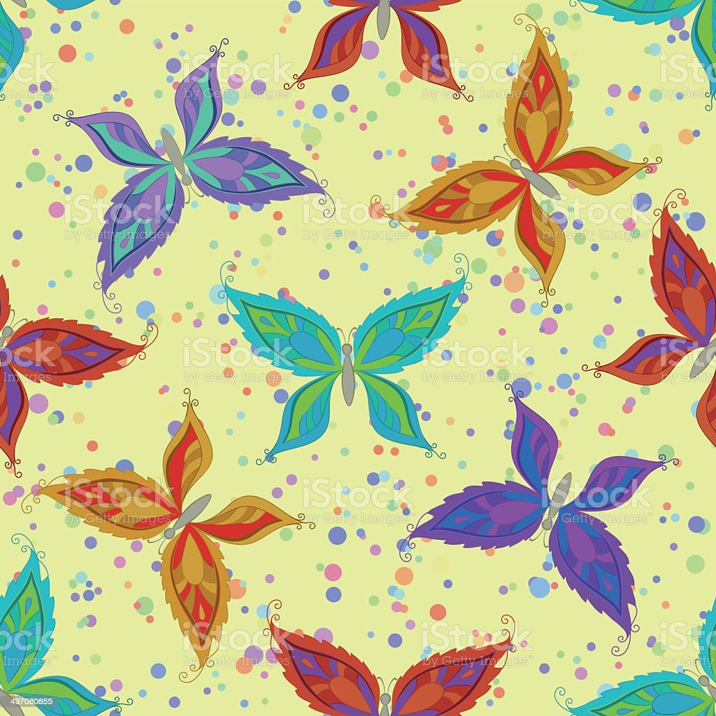 Seamless pattern, colorful butterflies royalty-free seamless pattern colorful butterflies stock vector art & more images of abstract