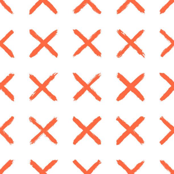 Nahtlose Muster mit farbigen Malstrichen erstellt. Zusammenfassung Hintergrund mit Elementen in Form eines Kreuzes oder ein Zeichen löschen. – Vektorgrafik