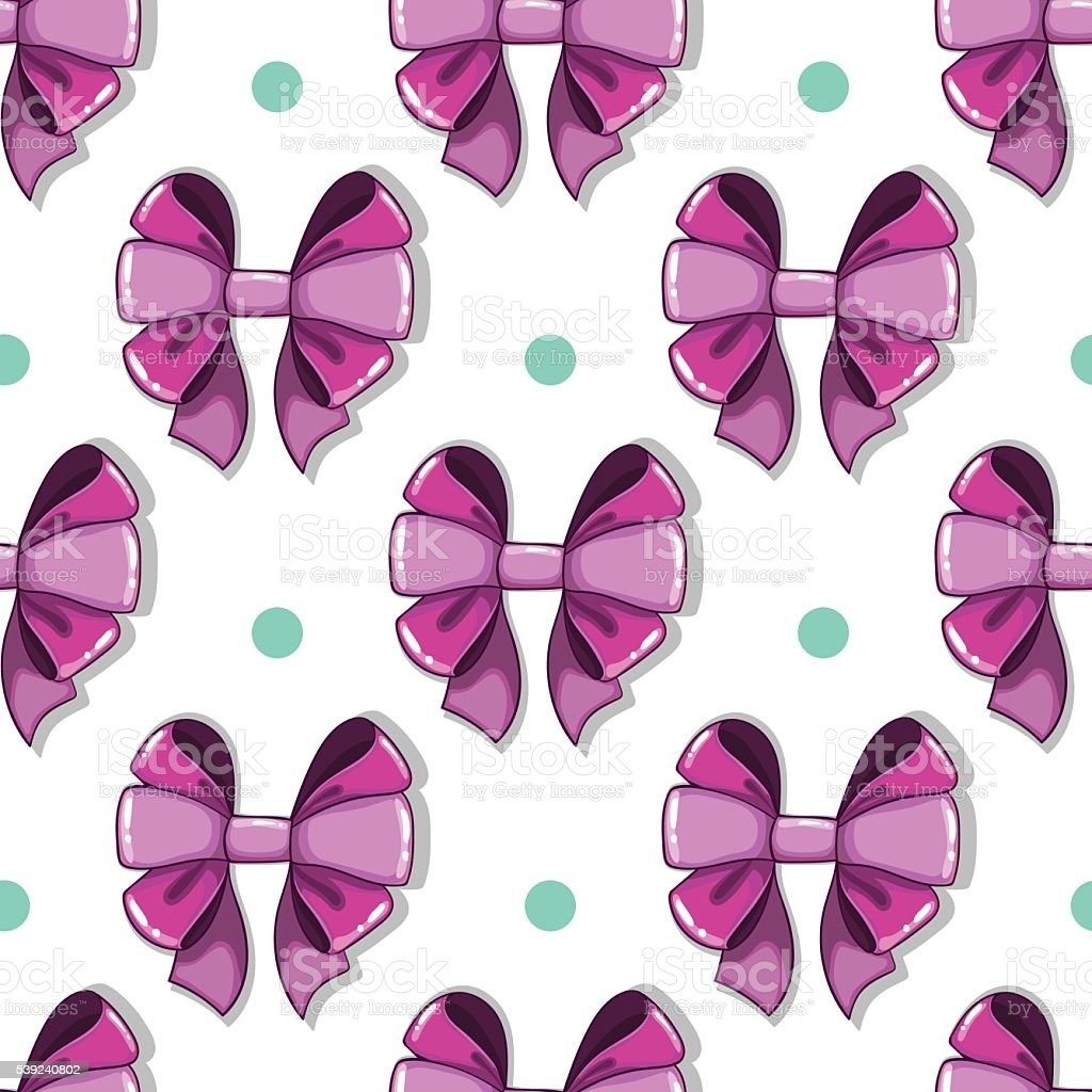 Seamless pattern cute cartoon bows royalty-free seamless pattern cute cartoon bows stock vector art & more images of arts culture and entertainment