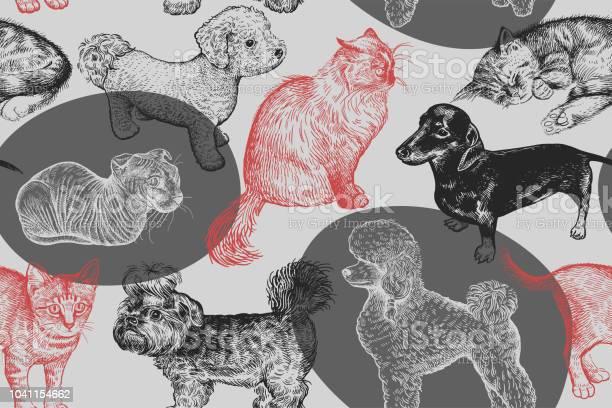 Seamless pattern cute puppies and kittens handmade drawing of dogs vector id1041154662?b=1&k=6&m=1041154662&s=612x612&h=cgpxnzlcdrqe70uwmt h9yd4webnr9ov2x5wqiycyrm=