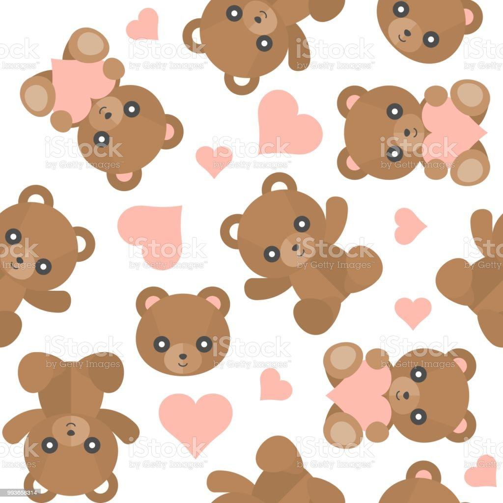 seamless pattern cute teddy bear for use as wallpaper or christmas